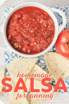 Homemade Salsa Recipe for Canning or Having Fresh - Fabulessly Frugal