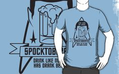 'Spocktoberfest' iPad Case/Skin by popnerd Things That Go Together, Star Trek Spock, Beer Shirts, Latest Fashion Trends, Cool T Shirts, In This World, V Neck T Shirt, Pop Culture, Classic T Shirts