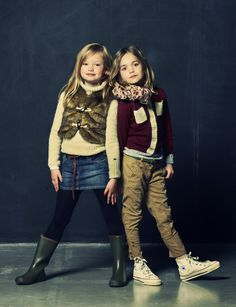 American Outfitters Winter 2012 Textured fabrics with boucle knits and fake fur jerkins for girls