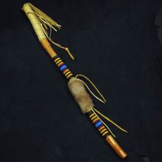 Beaded Dance Stick Native American Beadwork