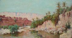 Louis Emile Bertrand, Paysage Animé à El-kantara En Algérie, Tableau, Cerca Trova, Proantic