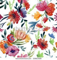 Primavera Vectores en stock y Arte vectorial Nature Images, Nature Pictures, Watercolor Pattern, Watercolor Flowers, En Stock, Vector Pattern, Vector Art, Vector Stock, Spring Flowers