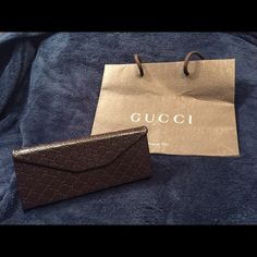 Authentic Gucci Glasses Case Set NEW! This beautiful glasses/sunglasses case includes: 1 case, 1 cloth and a shopping bag new NO TRADES NO PAYPAL Please don't ask  Gucci Accessories Sunglasses