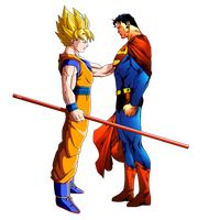 Goku and Superman render by JayC79