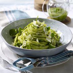 Spaghetti mit Portulak-Pesto Rezept
