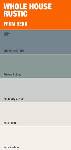 Nothing's more calming than this costal mix of blue and grey paint colors - Home decor interests