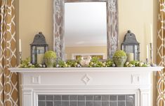 Image of: mantel decorating ideas for spring