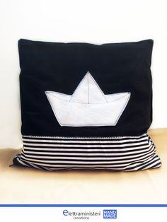 Pillow cases, cushion cover, paper ship, Home decoration
