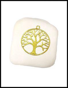 Μπομπονιέρα σε πέτρα με επίχρυσο δέντρο