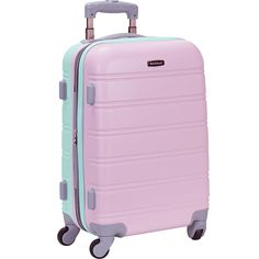"""Rockland Luggage Melbourne 20"""" Expandable ABS Carry-On - eBags.com Girls Luggage, Cute Luggage, Best Luggage, Carry On Luggage, Travel Luggage, Luggage Bags, Travel Bags, Disney Luggage, Suitcase Bag"""