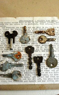 The Grower's Daughter: New Shop Items ~ Ephemera Pack, Spools, Keys and Clothespins