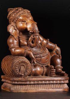 Lord Ganesha Paintings, Ganesha Art, Buddha Art, Buddha Statues, Hanuman Images, Indiana, Yoga Decor, Ganesha Pictures, Ganesh Statue