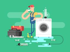 Repair+of+washing+machines.+Service+maintenance,+worker+man,+mechanic+vector+illustration+Vector+files,+fully+editable.