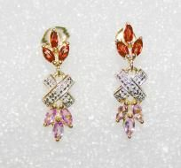 BEAUTIFUL GENUINE Garnet & Amethyst Earrings, FREE SHIPPING $15.00 price drop from 20.00, with free shipping and i`ll gift you when you comment before you buy!!