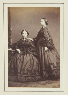 Princess Helena and Princess Louise, 1862 [in Portraits of Royal Children Vol.6 1862-1863]   Royal Collection Trust