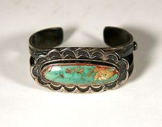 1930 turquoise silver bracelet
