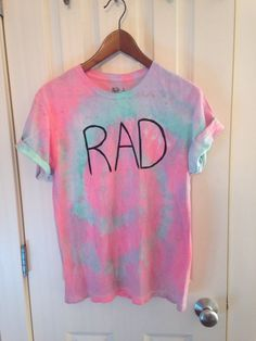 Rad tir dye t-shirt on Etsy, $20.00