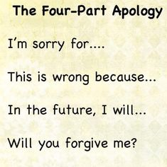 To anyone who needs to apologize