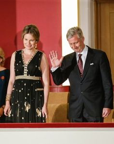 Queen Mathilde of Belgium and King Philippe of Belgium attended the final session of the Queen Elisabeth Piano Competition 2016 at the Palace of Fine Arts in Brussels, on May 23, 2016.