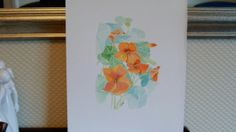watercolour narstirtiums