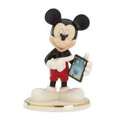 Lenox Cyber Chat With Mickey Figurine