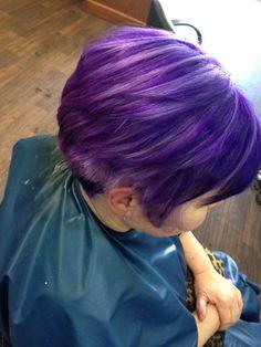 Lavender with purple lowlights
