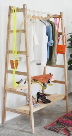 Planning out what to wear just got a whole lot better! We love this simple DIY closet edit by @dominomag  using reclaimed ladders.