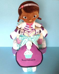Doc McStuffins Tricycle Diaper Cake by PamperedBabyCreation