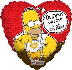 """Globo Homero con cerveza 18"""""""