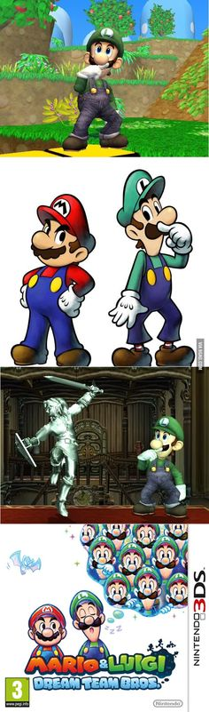 Why is Luigi always sniffing his finger?