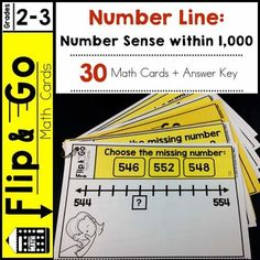 Do you want a quick and easy way for students to practice and review counting to 1000? I know that every minute of the instructional day is precious. 30 math task cards that reinforce number sense using number lines - Count within 1000.