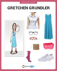 Like Gretchen Grundler Dress Like Gretchen Grundler from the Recess cartoons. See additional costumes and cosplays from Gretchen.Dress Like Gretchen Grundler from the Recess cartoons. See additional costumes and cosplays from Gretchen. 90s Cartoon Costumes, Got Costumes, 90s Costume, Costume Dress, 90s Cartoons, Homemade Halloween Costumes, Group Halloween Costumes, Family Costumes, Halloween Couples