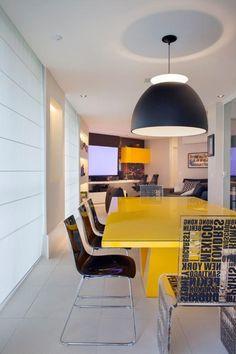 Cobertura Duplex Edifício Mandarim (Condomínio Península) / Cadore Arquitetura #dining #lighting