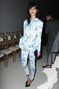 Caroline Sieber Giambattista Valli Couture Spring 2014 Front Row