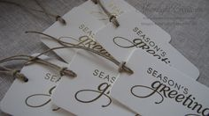 Seasons Greetings Handmade Embossed Christmas by MoonlightStamper, $3.95