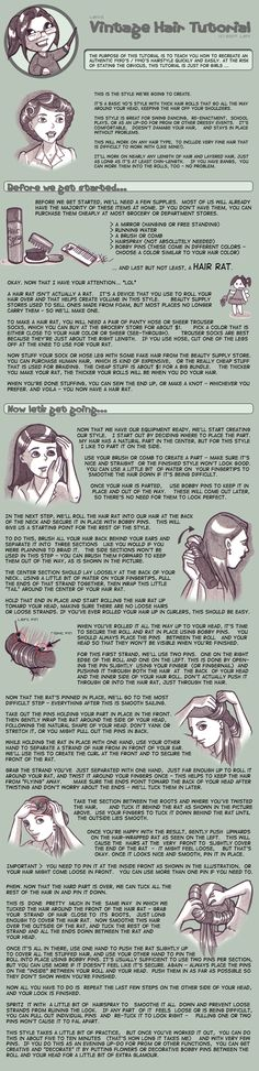 Tutorial - Easy Vintage Hair by *MauserGirl on deviantART