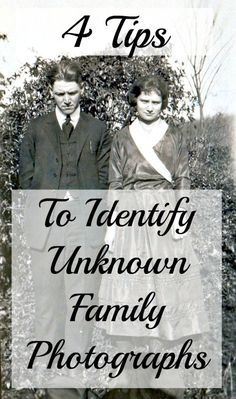 Do you have unknown photographs in your closet? Still wondering just who is in that family photograph? How do you identify my unknown photographs? There are a number of ways to start identifying unidentified family photographs. The process is not quick, but can be very rewarding!