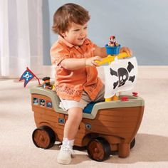 Arrrg...Little Tikes Play 'n Scoot Pirate Ship.  Too cute.