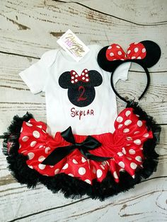 Minnie Mouse Birthday Outfit Girls Birthday Outfit Minnie