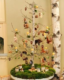 birch tabletop tree - Martha Stewart Christmas