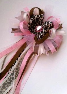 Baby Shower Corsage - SUPER cute!,  Go To www.likegossip.com to get more Gossip News!