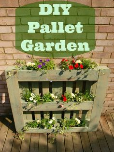 diy pallet garden by anna international - Garden Ideas With Pallets