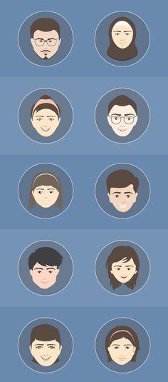 Free Avatar Vectors