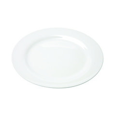 White Rim China from Rentals Unlimited: Dinner Plate = $0.60 each; Salad/Dessert = $0.60 each; B&B = $0.60 each
