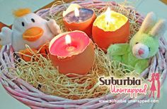 Check out this easy Easter egg craft...great way to use up old candle scraps!