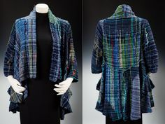 Koi pond Saori handwoven cotton jacket: SOLD wearable art ( ON RESERVE)