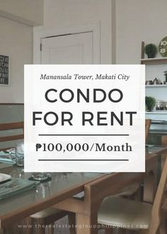 For Rent:  2BR Condo - Manansala Tower Makati City 99 Sqm Fully Furnished 100000/Month  http://ift.tt/2rhEzzT