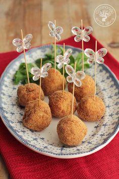Cocinando entre Olivos: Bolitas de pollo, queso y mostaza. Receta paso a p...