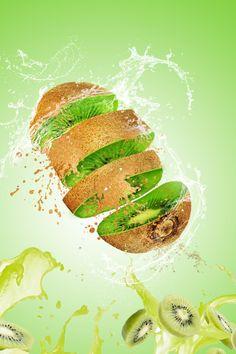 Kiwi And Apple Juice Closeup Apple Juice, Fruit Juice, Fresh Fruit, Juice Menu, Juice Ad, Kiwi Smoothie, Fruit Smoothies, Vegetable Smoothie Recipes