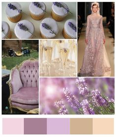Lilac And Champagne Wedding Colors | Chic and Soothing Lavender and Champagne Inspiration Board
